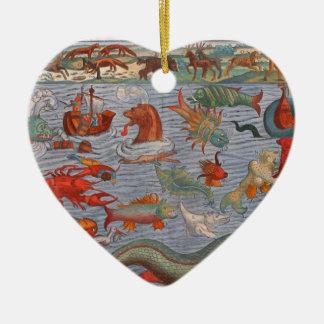 Ornement Cœur En Céramique Monstres de mer