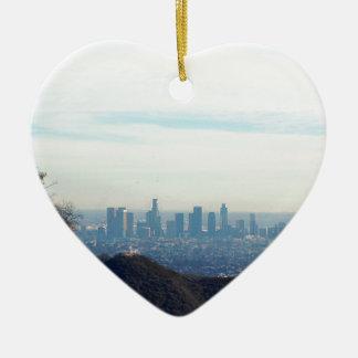 Ornement Cœur En Céramique Montagne encadrée par LA