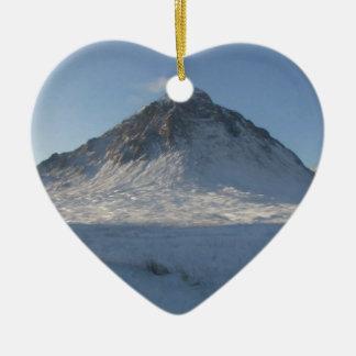 Ornement Cœur En Céramique MOR de Buachaille Etive, les montagnes, Ecosse