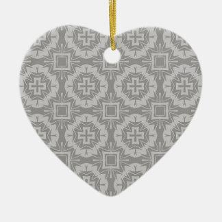 Ornement Cœur En Céramique motif 8773Grey