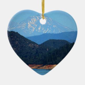 Ornement Cœur En Céramique Mt Shasta