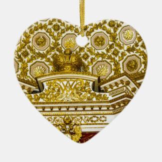 Ornement Cœur En Céramique Musée d'ermitage d'état St Petersburg Russie