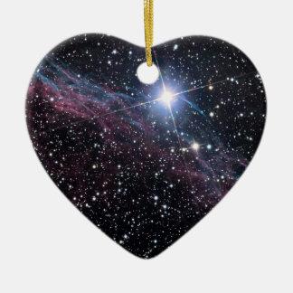 Ornement Cœur En Céramique Nébuleuse de voile de la NASA ESA
