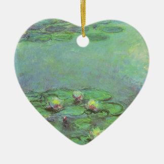 Ornement Cœur En Céramique Nénuphars par Claude Monet, impressionisme vintage