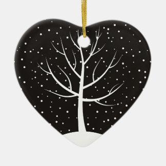 Ornement Cœur En Céramique Noël tree3