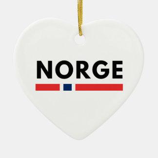 Ornement Cœur En Céramique Norge