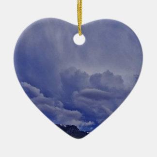 Ornement Cœur En Céramique Nuages 1 de rampement