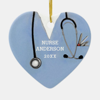 Ornement Cœur En Céramique Obtention du diplôme d'école d'infirmières
