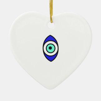 Ornement Cœur En Céramique Oeil mauvais