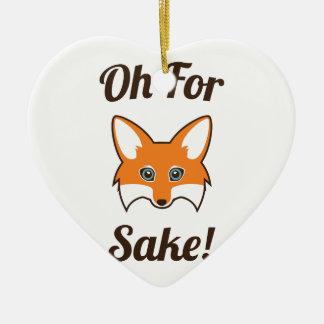 Ornement Cœur En Céramique Oh dans l'intéret de Fox