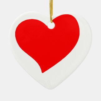 Ornement Cœur En Céramique paix love4