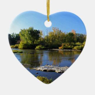 Ornement Cœur En Céramique Parc de Providence