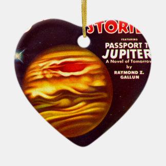 Ornement Cœur En Céramique Passeport à Jupiter