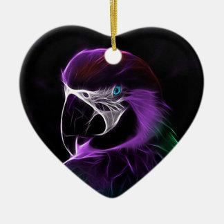Ornement Cœur En Céramique perroquet #2