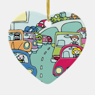 Ornement Cœur En Céramique Personnes d'embouteillage