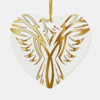 Ornement Cœur En Céramique Phoneix