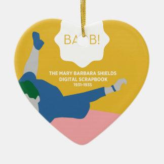 Ornement Cœur En Céramique Ping-pong Barb