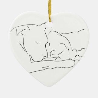 Ornement Cœur En Céramique Pitoyablement dans l'amour
