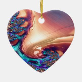 Ornement Cœur En Céramique Planète de fractale d'Utopie