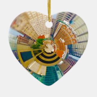Ornement Cœur En Céramique Planète minuscule Kansas City du centre, MOIS
