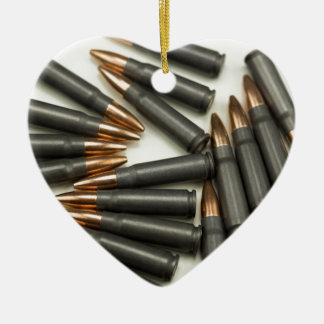Ornement Cœur En Céramique point creux des munitions 7.62x39mm de munitions