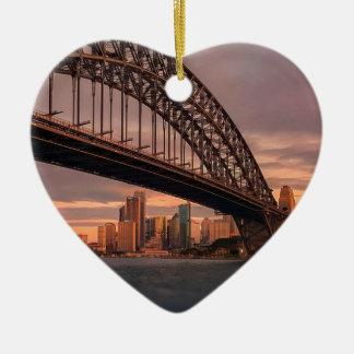 Ornement Cœur En Céramique Pont de port de Sydney