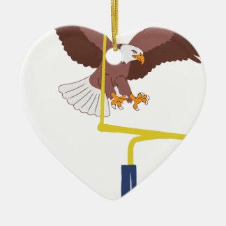 Ornement Cœur En Céramique poteau de but d'aigle