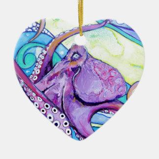 Ornement Cœur En Céramique Poulpe de Surfin