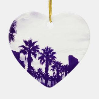 Ornement Cœur En Céramique Pourpre de San Diego