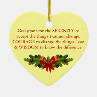 Ornement Cœur En Céramique Prière de sérénité