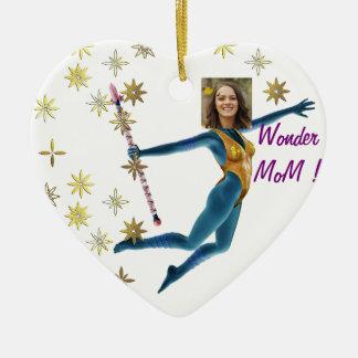 Ornement Cœur En Céramique Princesse Fairy Wand, bleu - avec VOTRE photo -