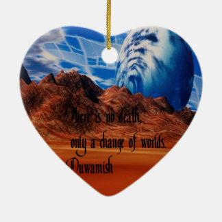 Ornement Cœur En Céramique Proverbe de Natif américain