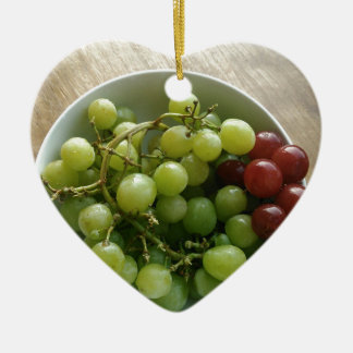 Ornement Cœur En Céramique raisins