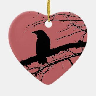 Ornement Cœur En Céramique Raven a fendu le coeur