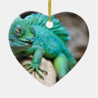 Ornement Cœur En Céramique reptile
