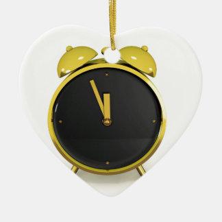 Ornement Cœur En Céramique Réveil d'or