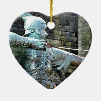 Ornement Cœur En Céramique Robin Hood