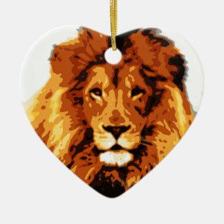 Ornement Cœur En Céramique Roi de la jungle