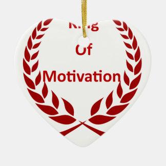 Ornement Cœur En Céramique roi de motivation