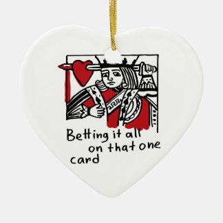 Ornement Cœur En Céramique Roi des coeurs
