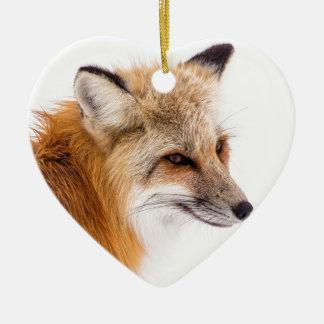 Ornement Cœur En Céramique rouge-renard