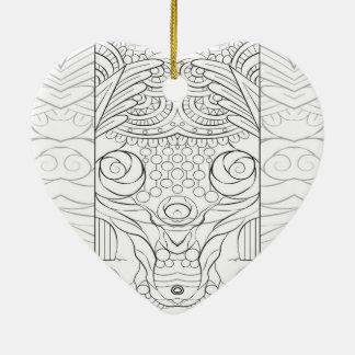 Ornement Cœur En Céramique Rusé