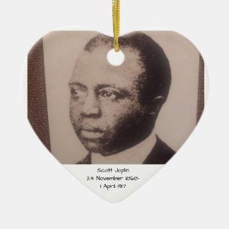 Ornement Cœur En Céramique Scott Joplin
