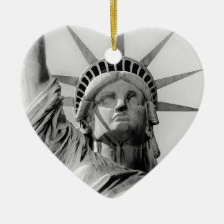 Ornement Cœur En Céramique Statue d'ornement de vacances de liberté