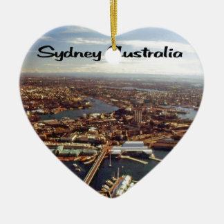 Ornement Cœur En Céramique Sydney du centre