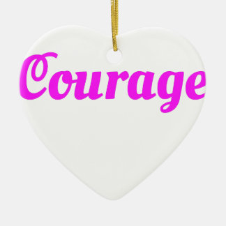 Ornement Cœur En Céramique T-shirt de cadeau de lutte de COURAGE et de vie