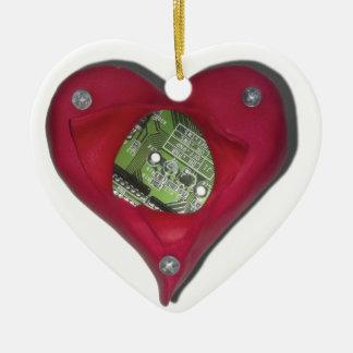 Ornement Cœur En Céramique Technicien au coeur