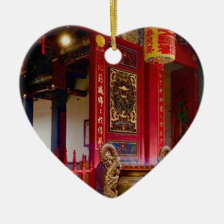 Ornement Cœur En Céramique Temple dans Yilan, Taïwan