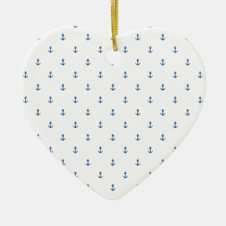 Ornement Cœur En Céramique Texture sans couture d'ancre
