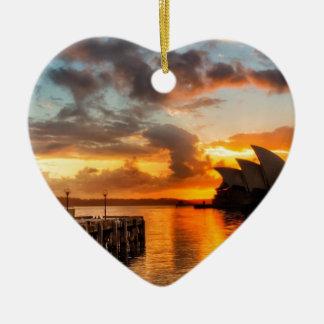 Ornement Cœur En Céramique Théatre de l'opéra de Sydney de l'Australie au